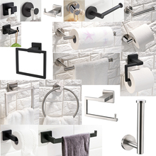 Free Delivery Kitchen Towel Rack Hook Robe SUS 304 Stainless Steel Bathroom Black/brushed/polished