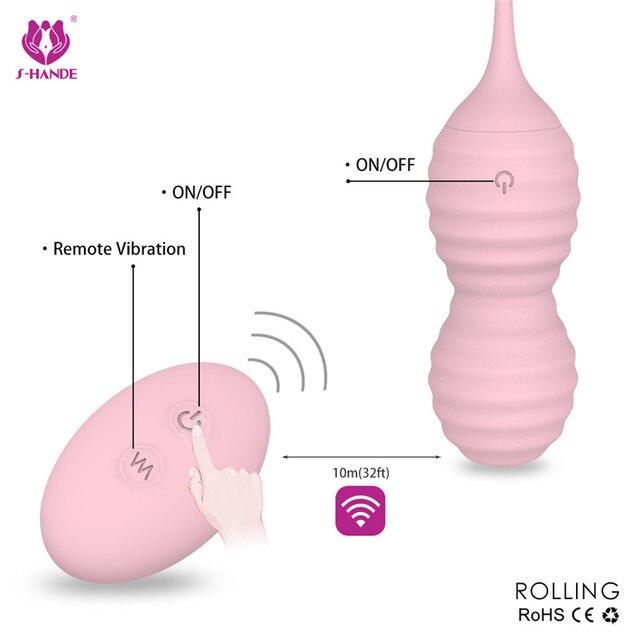 Nouvelle télécommande Kegel Ball Muscle Vaginal exercice serré amour oeuf vibrateurs Geisha ben Wa balle produits sexuels jouet sexuel pour les femmes