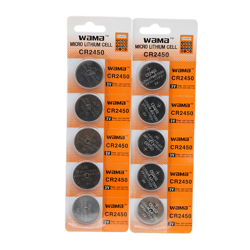 10x Wama CR2450 3V Alkaline Button Cell Coin <font><b>Batteries</b></font> DL2450 <font><b>CR2450N</b></font> ECR2450 BR2450 Lithium <font><b>Battery</b></font> Car Remote image
