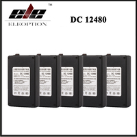 5x Black DC 12V 4800mAh DC 12480 Rechargeable Portable Li Ion Battery For CCTV Camera Transmitter