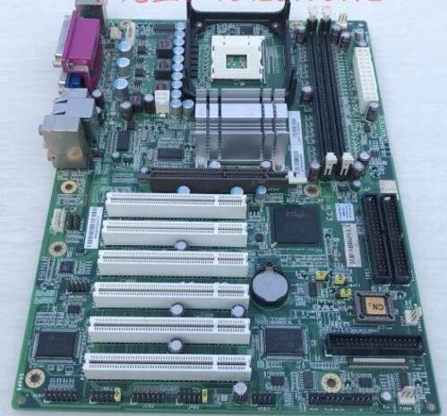 100 OK Original IPC Mainboard IP 4GVI63 TOP MB845VEA ATX Industrial Motherboard 6 PCI With CPU