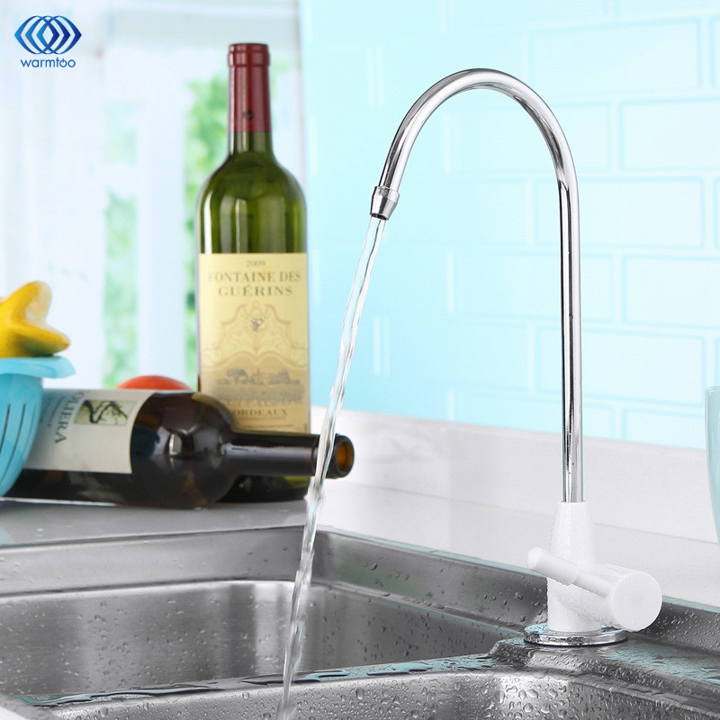ABS Plating Drinking Water Purifier Ceramic Faucet Filter Filtration Household Kitchen Faucet Fittings 1/4inch