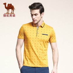 Camel men s clothing 2016 turn down collar tee shirt cotton business casual short sleeve shirt.jpg 250x250
