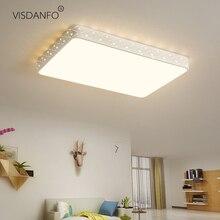 Vissanfo מודרני 220v הר פלאש led תקרת אורות סלון חדר שינה אור גופי שלט רחוק מטבח מנורה