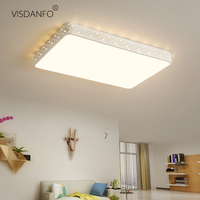 vissanfo Modern 220v flush mount led ceiling lights lamp for living room bedroom light fixtures Remote Control kitchen lamp