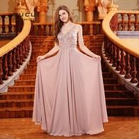 Chiffon Plus Size 2019 Mother Of The Bride Dresses Elegant Wedding Party Dress Women Vestidos Floor Length Evening Gown OL103290
