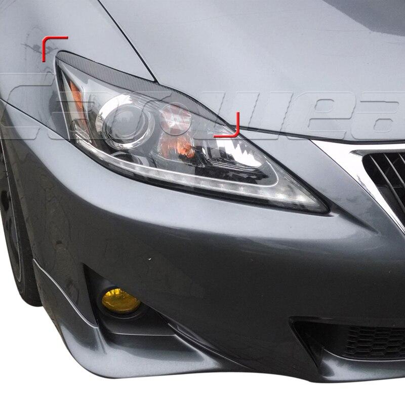 Sourcil de paupière de couverture de phare avant de Fiber de carbone de voiture-style pour Lexus IS250 IS300 2006-2012