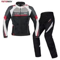 NEW Motoboy Summer Set Motorcycle Mesh Suit Ventilation And Protective Jacket And Pant Set Motorsport Jacket Motor Racing Suit