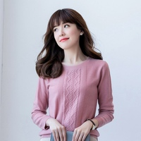 Hot Sale Women's Sweaters 100% Pure Cashmere Knitting Pullovers High quality and Soft Oneck Winter Warm Knitwear Ladies Jumpers