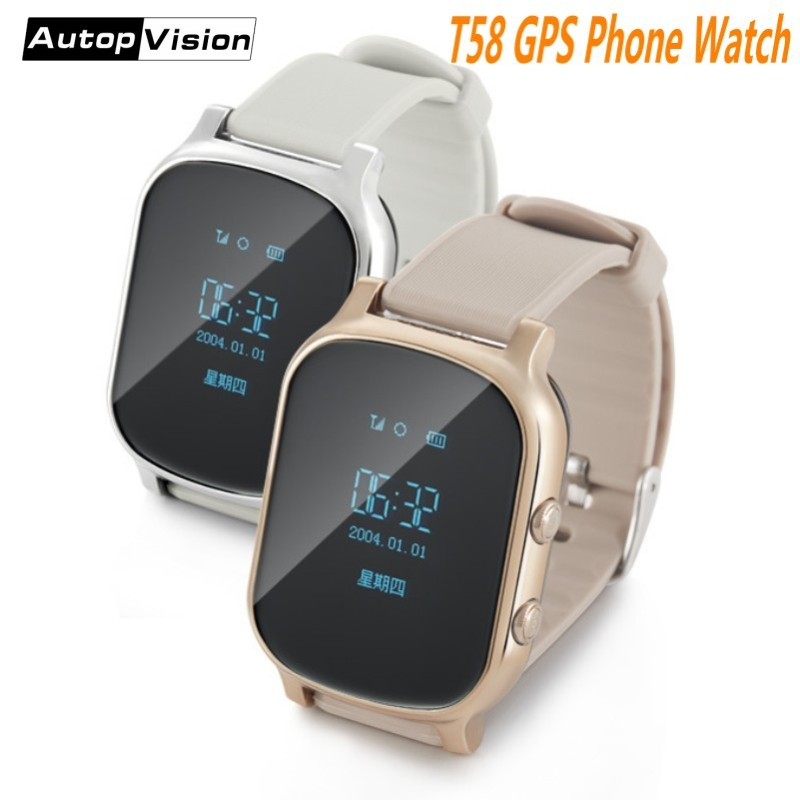Wholesale Hot Kids Smart Watch T58 GSM GPS Tracker Support SIM Card Google Map SOS Safety Call Anti-Lost Monitor Smartwatch gps smart watch q523 with wifi touch screen sos call location devicetracker kid safe anti lost monitor child gps watch pk q50 q8