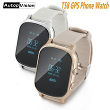 Wholesale Hot Kids Smart Watch Tracker T58 GSM GPS Tracker Support SIM Card Google Map SOS Safety Call Anti-Lost Monitor(China)