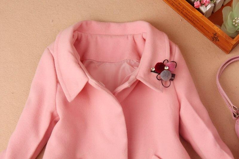 698b45060419c 2019 filles laine hiver manteaux enfants vêtements enfants vêtements haut  de gamme laine mélanges cachemire moyen long filles vêtements 2 16Y dans  Laine et ...