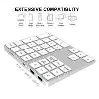 34 2 in 1 USB C 3.1 HUB Wireless Numeric Keypad Bluetooth 34 keys Numpad Type C Keypad Wireless For Android Phone For Apple Acount (2)