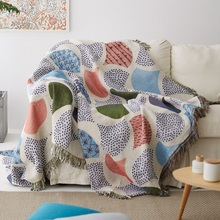 Ginkgo Leaves Knit Chair Sofa Towel Leaf Couch Carpet Throw Blanket Soft Cotton Travel Plaids Bedding Cover Tapestry