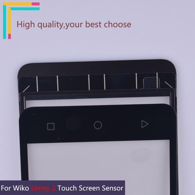 """جديد 5.0 """"Lenny2 اللمس الشاشة ل Wiko ليني 2 محول الأرقام بشاشة تعمل بلمس الاستشعار الخارجي الجبهة لوحة زجاج عدسة استبدال أجزاء"""