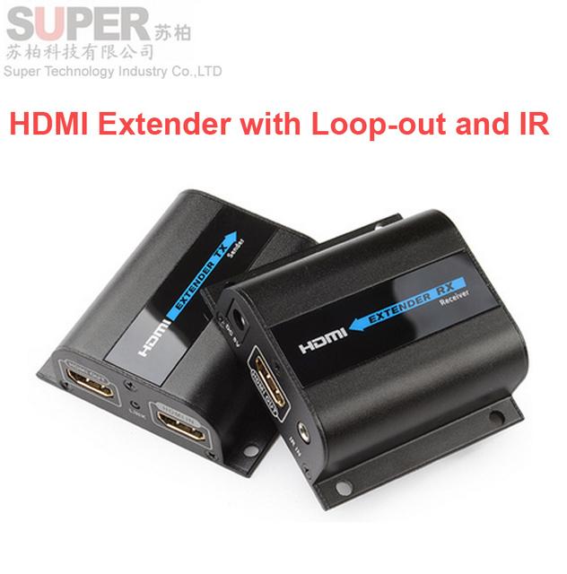 LKV372Pro HDMI extender 1080 P HDMI de hasta 60 m/196ft sobre un único cable de red CAT6 HDMI Extender w/Loop-out & adaptador inalámbrico por INFRARROJOS