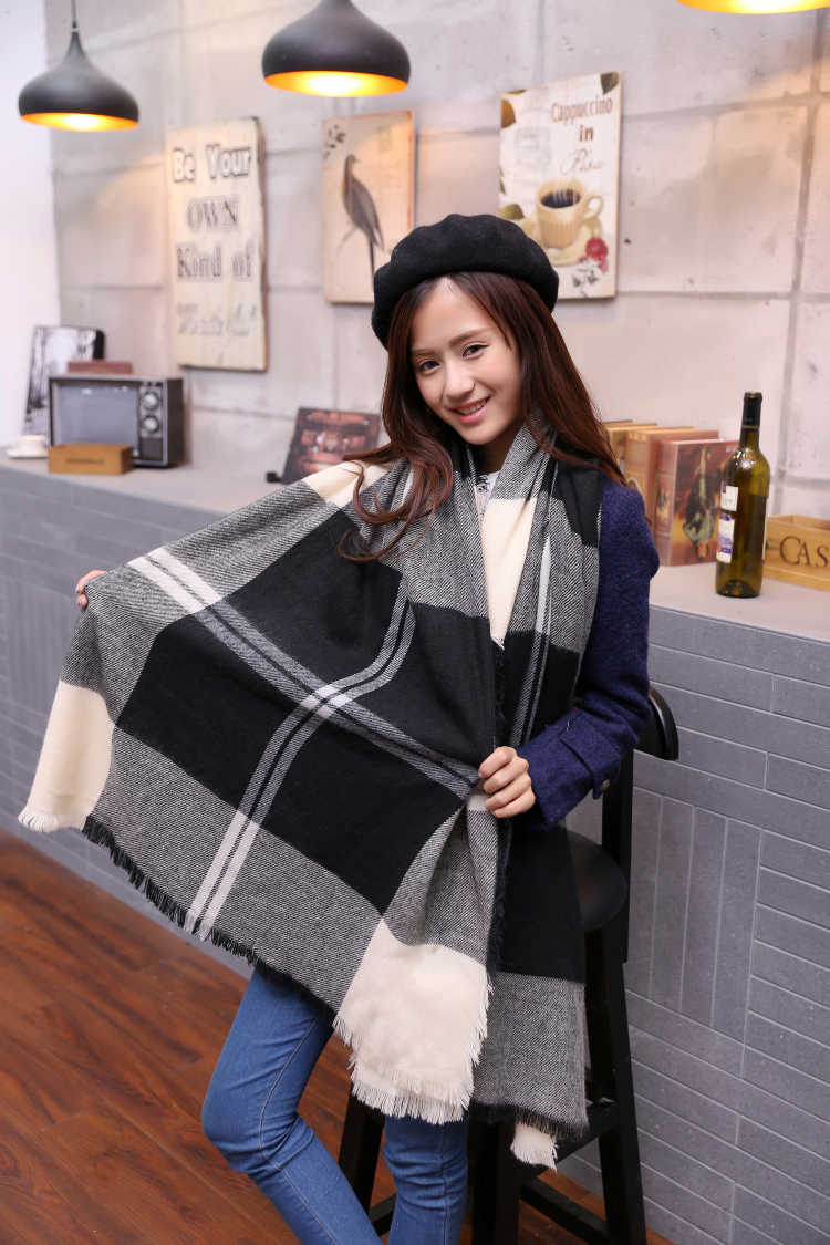 2018 Brand Cashmere Design Blanket Scarf Plaid Women Fashion Warm in Winter Shawl For Women pashmina shawl