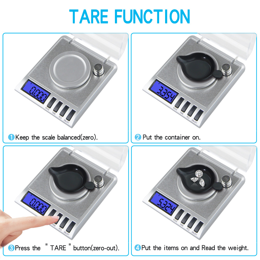 0 001g Precision Portable Electronic Jewelry Scales 50g 0 001 Diamond Gold Germ Medicinal Pocket Digital Scale Weighing Balance in Weighing Scales from Tools