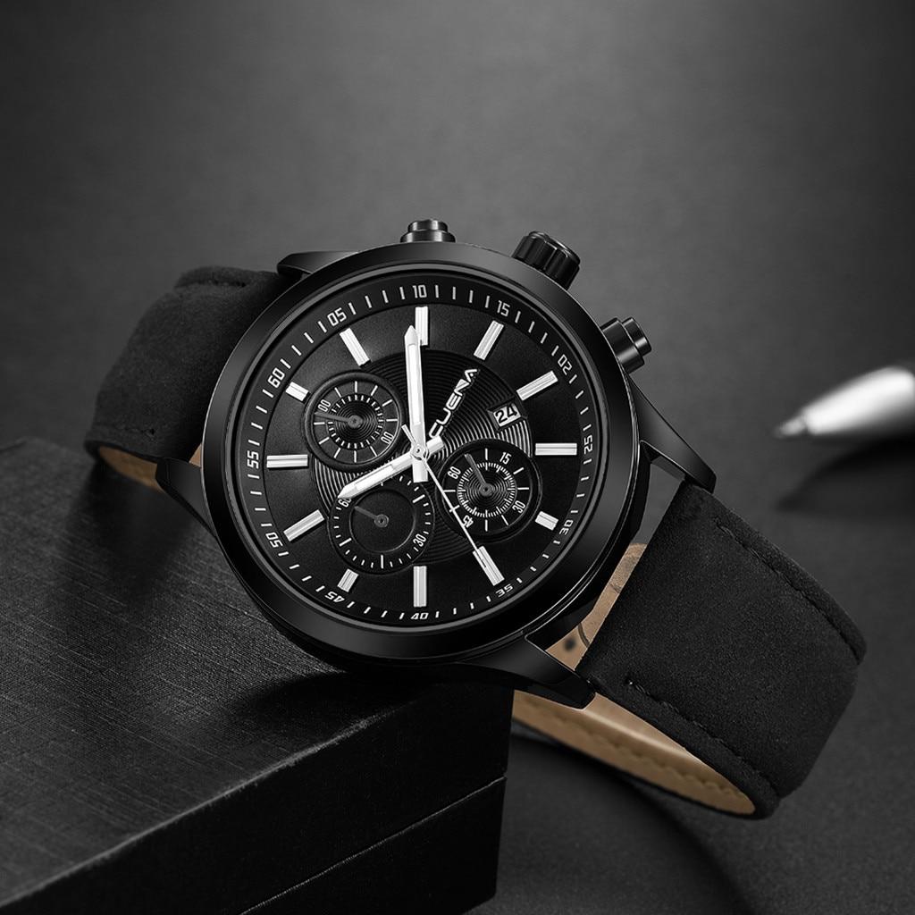 HTB1M2m5aojrK1RkHFNRq6ySvpXaa Fashion mens watches top brand luxury business sport quartz wrist watch leather watchband women watches ladies dress clock USPS