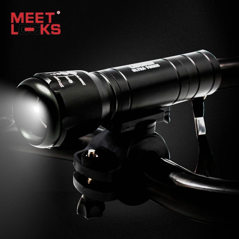 MEETLOCKS Velosiped fənəri 240 Lumens Cree 5 LED Batareya - Velosiped sürün - Fotoqrafiya 1