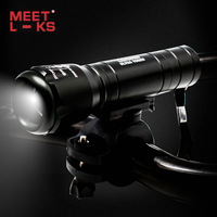 MEETLOCKS 240 Lumens Cree 5 LED Bicycle Headlight For Bike Cycling Bicycle Front Light 1 Usb