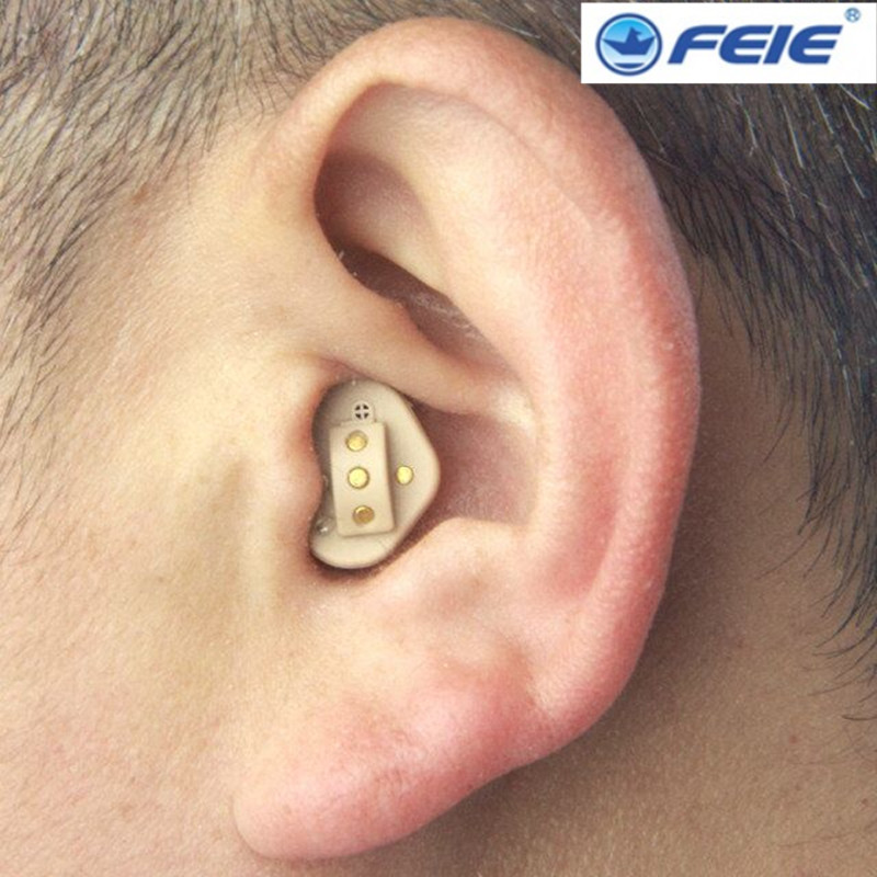 Best selling from aliexpress mini hidden earphone invisibile apparecchio acustico S-51 with rechargeble battery free shipping