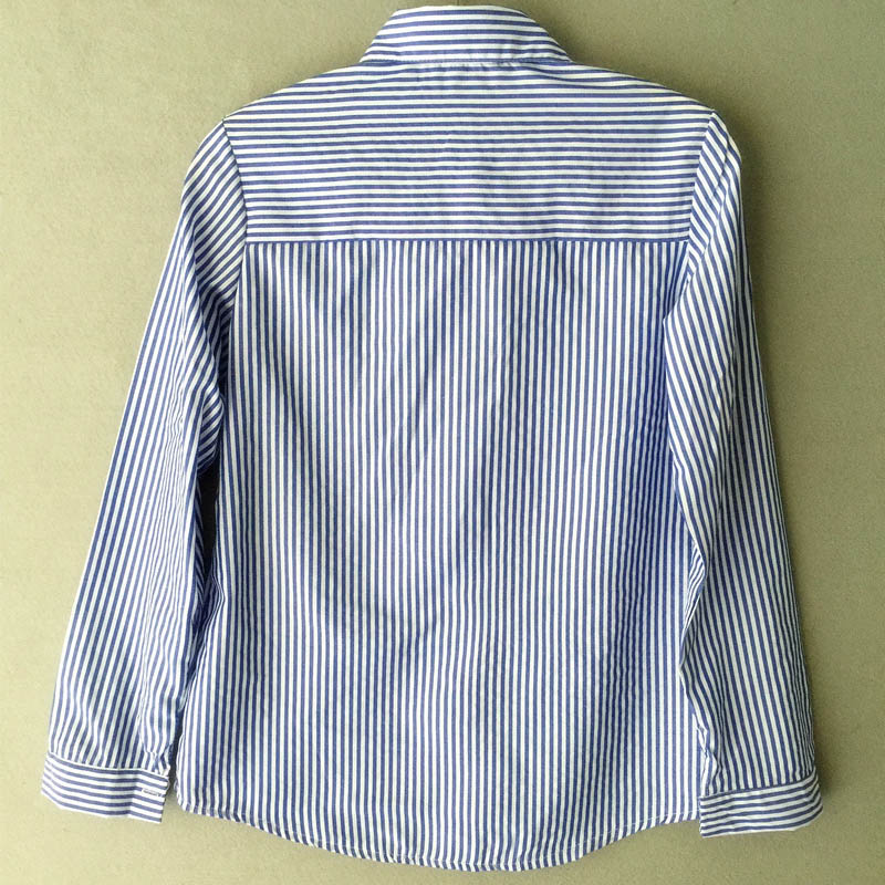 16efbaa266ba09 Aliexpress.com   Buy Women Sky Blue and White Striped Long Sleeve Shirt  2016 casual Trun Down Collar Office Lady Blouse FS0230 from Reliable Blouses  ...