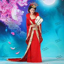 Hanfu Costume Tang Suit Hanfu Queen Clothes Yangguifei Princess Costume Girl Tuxedos Red Pink Lake Blue Chinese Ancient Costumes(China)