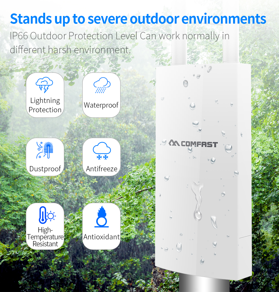 Image 4 - COMFAST 4G LTE Wireless AP Wifi Router High Speed Outdoor Plug and Play 4G SIM Card Portable Wireless Router WiFi Extender CF E5-in Wireless Routers from Computer & Office