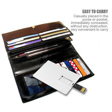 Factory directly selling ce fcc rohs metal business gifts super thin 8gb 16 gb credit card usb