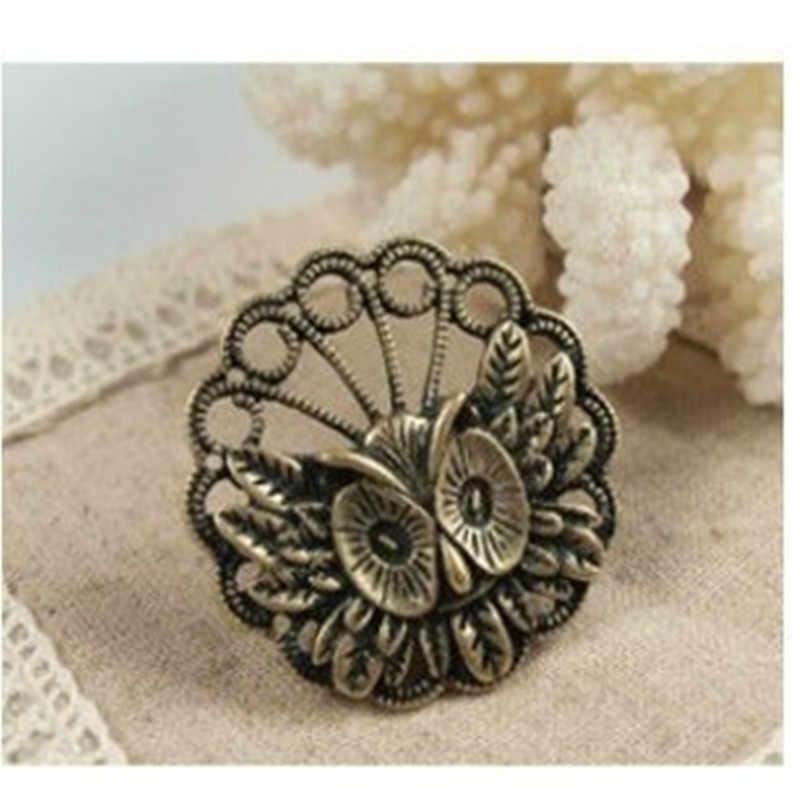 Hot Sale Da Moda clássico Torpor Da Coruja Do Vintage Anel de jóia de cristal Jóias Acessórios Frete grátis