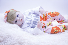 blonde hair silicone Reborn Baby Doll real bebes reborn girl toys 55 cm Lifelike 0-5 month Newborn Babies hot sale kids gift realistic 55 cm silicone reborn baby doll girl vinyl body babies dolls blonde hair princess waterproof toys alive bebe gift