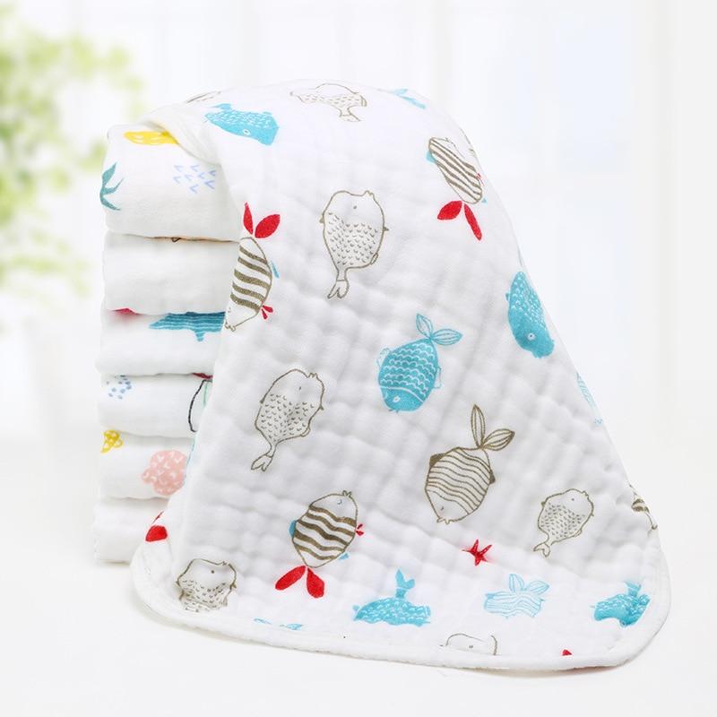 3pcs/lot Baby Towels 30*70cm 6 Layers Gauze Newborn Kids Bath Towels Muslin Face Cloths Boy Girl Infant Cotton Bathing Towel F11