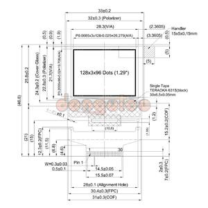 Image 4 - 1.29 OLED STR 9750EX 9350EX 9950EX 9570EX 9550 7795 9970 Twin)(Playme silencieux Playme deux fois) 30PIN écran OLED couleur SSD1351