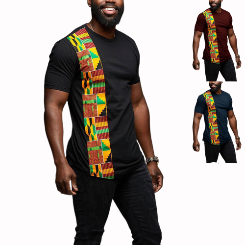 2019 New Summer Sexy Fashion Style African Men  Dashiki Plus Size T-shirt S-3XL