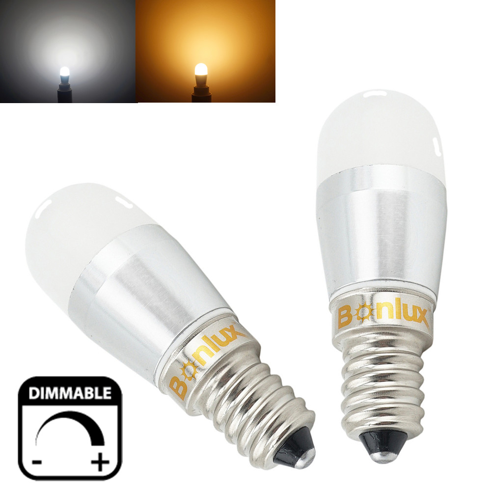 Led E 14 Dimmable Led E14 Fridge Bulb 3w 250lm Refrigerator Light Replace 25w Halogen For Sewing Machine Freezer Microwave Lighting In Led Bulbs Tubes From