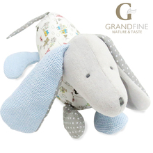 27cm cute grey stuffed dog doll,100% cotton knit Eco material, plush toys for gift,birthday