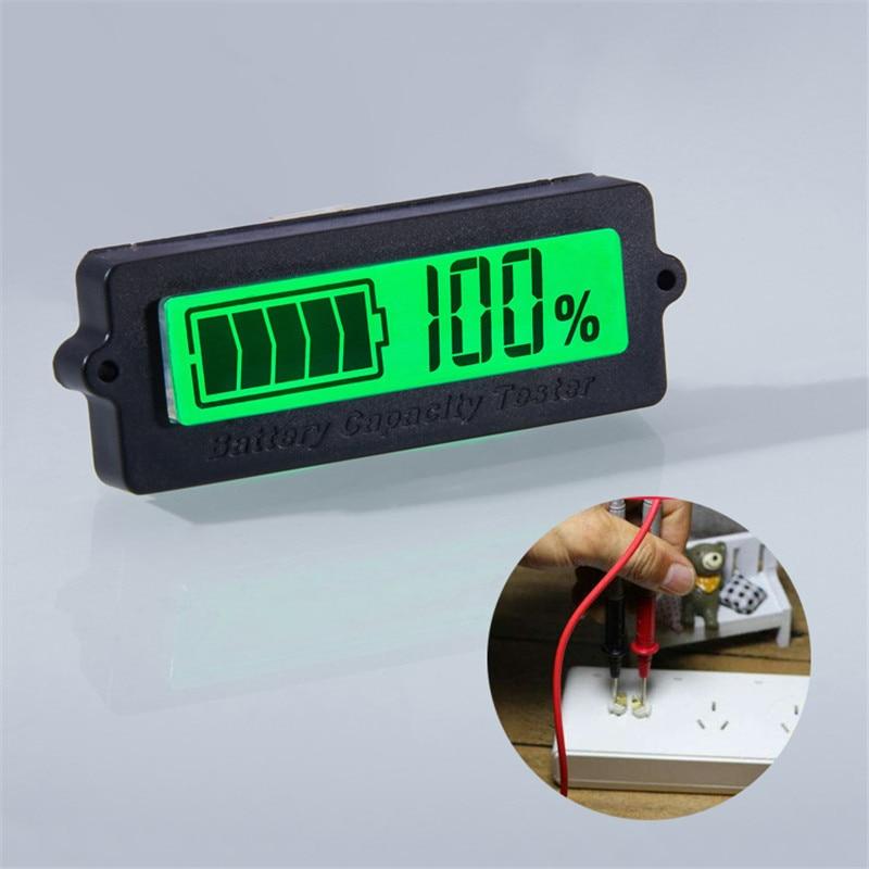 12 V 24 V 36 V 48 V LCD רכב חומצה עופרת ליתיום סוללה קיבולת מחוון דיגיטלי מד מתח מתח Tester
