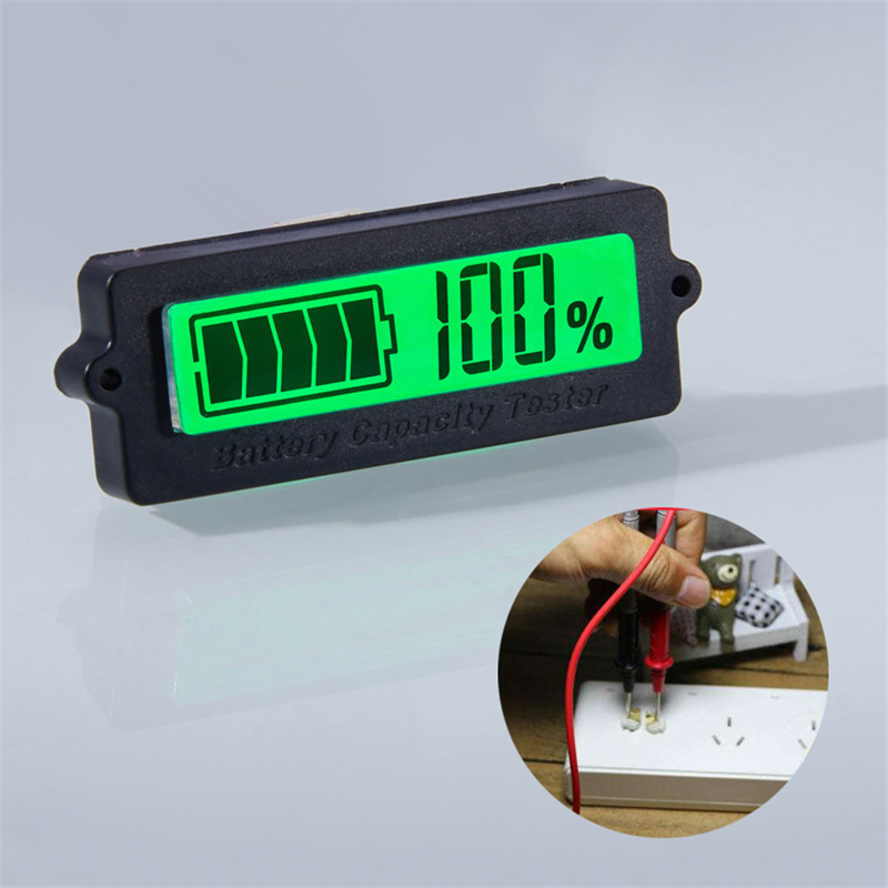 12V 24V 36V 48V LCD car Acid Lead Lithium Battery Capacity Indicator Digital Voltmeter Voltage Tester new 3 in 1 digital led car voltmeter thermometer auto car usb charger 12v 24v temperature meter voltmeter
