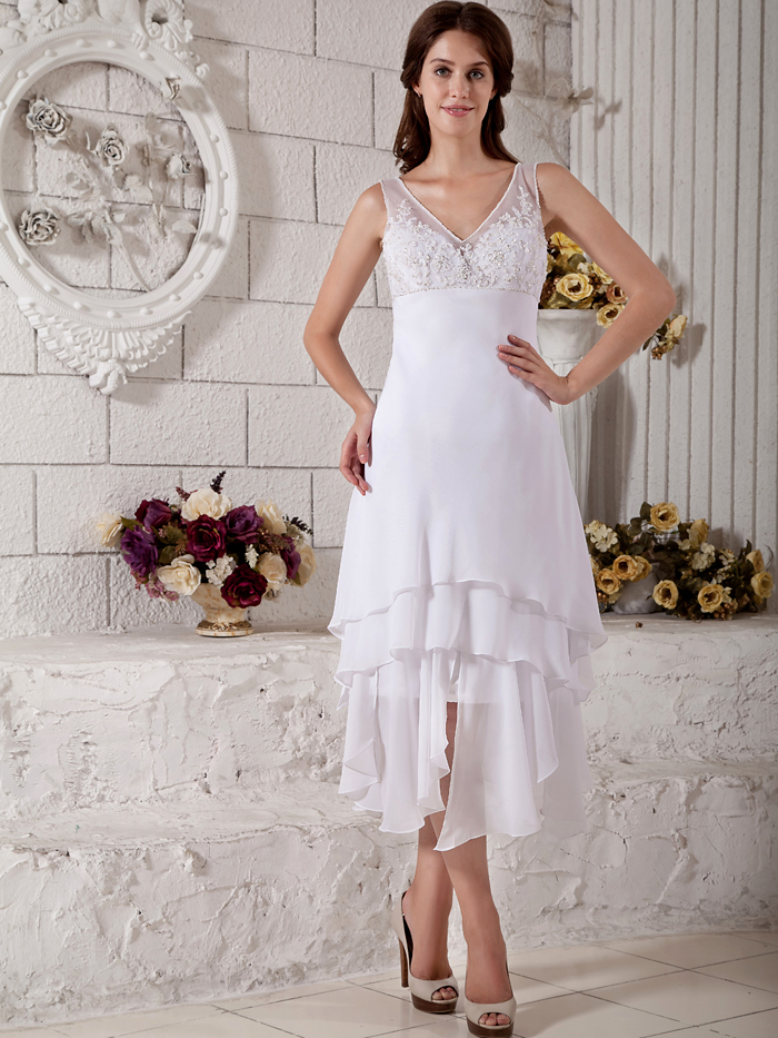 Tea Length Informal Wedding Dresses Promotion-Shop for Promotional ...