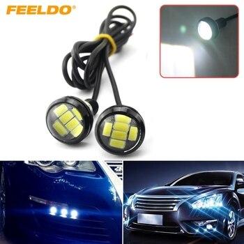FEELDO 100Pcs White 4W 23mm Lens Ultra-thin 5630 6 SMD 6 LED Eagle Eye Tail light Backup Rear Lamp DRL Light #1424