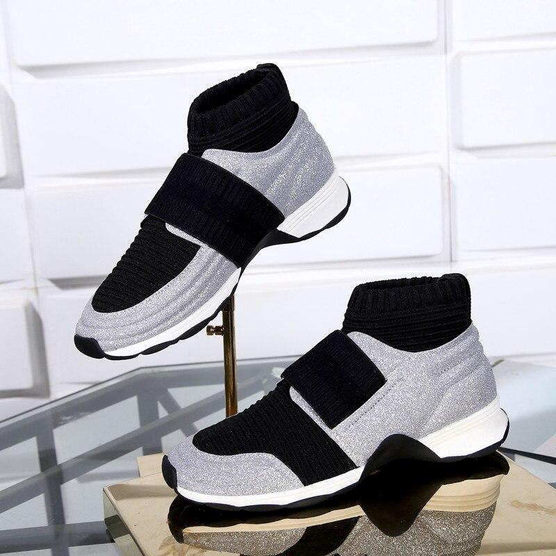 Courtes Chaussette Bottes Couleur Femmes Pic Boot Stretch Bottines Marque Cheville Piste Star Mixte Chaude Chaussures Sneakers Rond as As Bout Pic 8Wnq0PRav