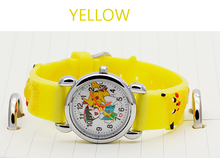 Snap watches 3D Kids Cartoon watches for Batman Pikachu children Christmas gift sports High quality silicone