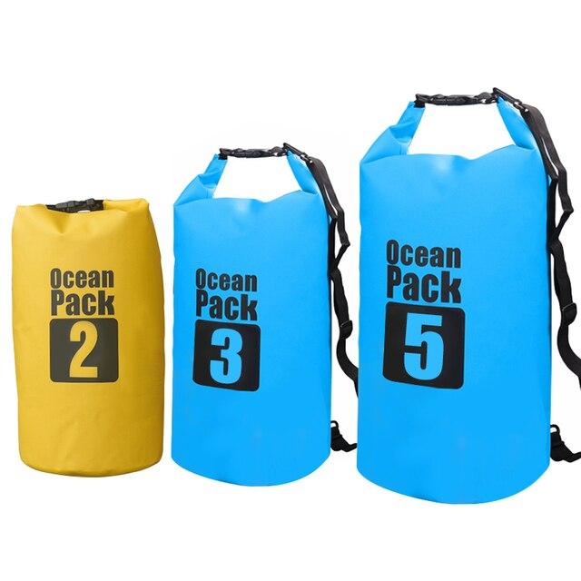 e831803a11 2L 3L 5L Waterproof Dry Bag Water Resistant Swimming Storage Bag Pack Sack  Rafting Kayaking Camping