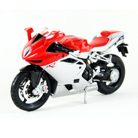 1 12 Maisto Motor Cycle Toy Die Cast Metal ABS MV F4 Motorcycle Model Boys Collection