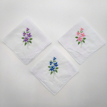 Women lace Embroidered handkerchief cotton 100%/ flower embroidery 28cm/Many Uses wholesale dropshipping