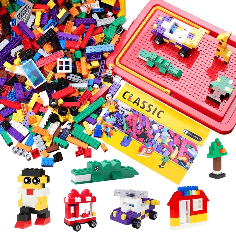 1000/500/200 piezas ladrillos diseñador creativo clásico de ladrillos DIY juguetes educativos bloques de construcción a granel Compatible con Legoed