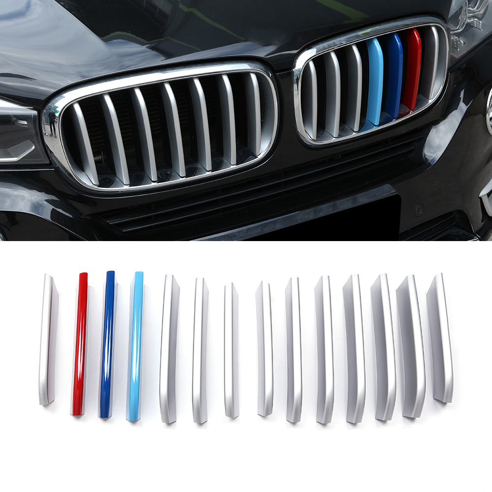 Car Styling Front Grille Grill Cover Decoration Molding Trim ABS plastic For BMW X5 X6 2014 2015 Car Auto Accessories carbon fiber car roof shark fin decoration antenna exterior trim for bmw e70 x5 e71 x6 2008 2014 car styling