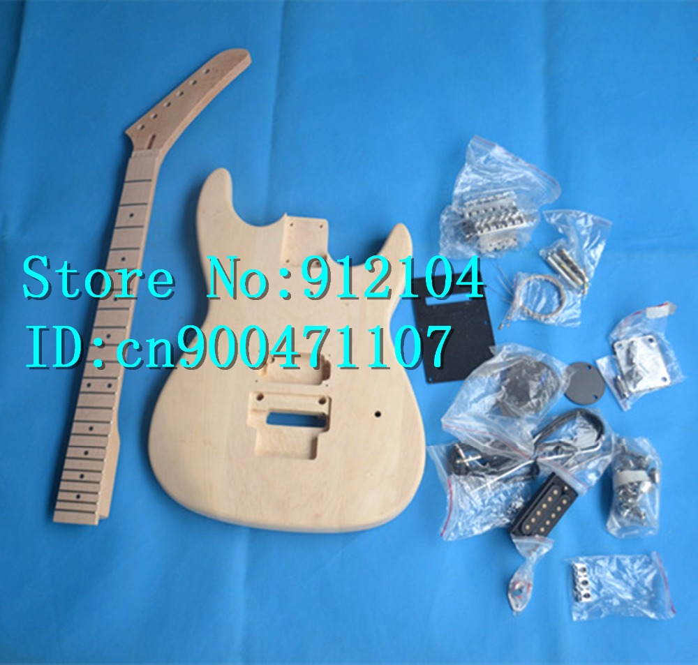 Musical Instruments Honey New Unfinished Electric Guitar With Body And Neck Unpainted With Maple Fingerboard With Hardware F-3038 Outstanding Features Stringed Instruments