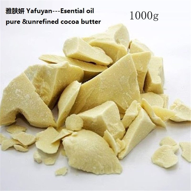 YAFUYAN 1000g Pure Cocoa Butter Ounces Raw Unrefined Cocoa Butter Base Oil Natural ORGANIC Essential Oil food grade
